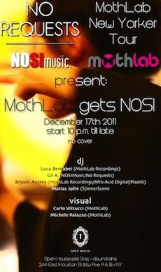 MothLab New Yorker Tour@MothLab gets Nosi@Open House•Open House•December 17, 2011