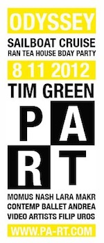 MAKr live@PART Odyssey w/Tim Green•Sailboat Cruise•NYC•August 11•2012