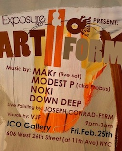 MAKR live@ART//FORM at ICO Gallery•NYC•February 25•2011