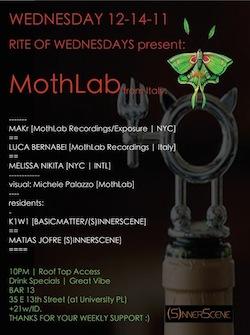 MothLab New Yorker Tour@Rite of Wednesdays•December 14•2011