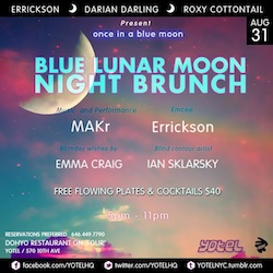 MAKr live@The Blue Lunar Moon Party•NYC•August 31•2012