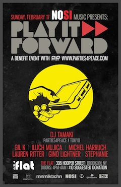 illich Mujica@Play it Forward•Parties 4 Peace•NYC•February 17•2013