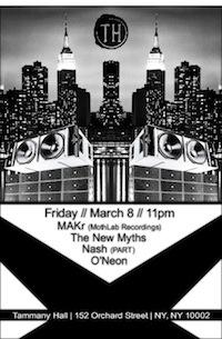 MAKr live@Tammany Hall•NYC•March 08•2013