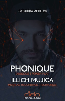 illich Mujica at Cielo NYC•April 26•