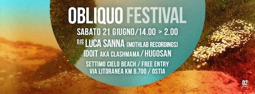 Luca Sanna plays at Obliquo Festival•Rome•June 21st•2014