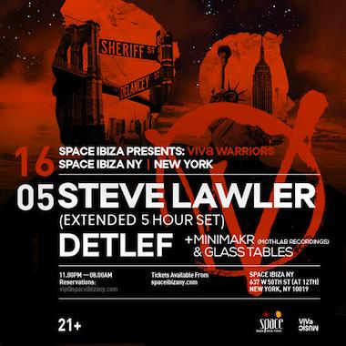 Saturday May 16th!!! miniMAKr at Space Ibiza Ny w/ Steve Lawler