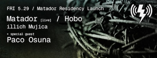 illich Mujica at Verboten w/ Hobo, Matador and Paco Osuna•NYC